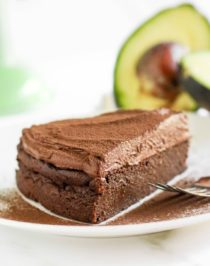 This healthier Chocolate Avocado Cake is super chocolatey, perfectly sweet, and nutritionally balanced with healthy fats, whole grains, lots of fiber, and a hit of protein! It's just as rich, and chocolatey asclassic chocolate cake, except this is made without the butter, oil, regular white sugar, and bleached flour!
