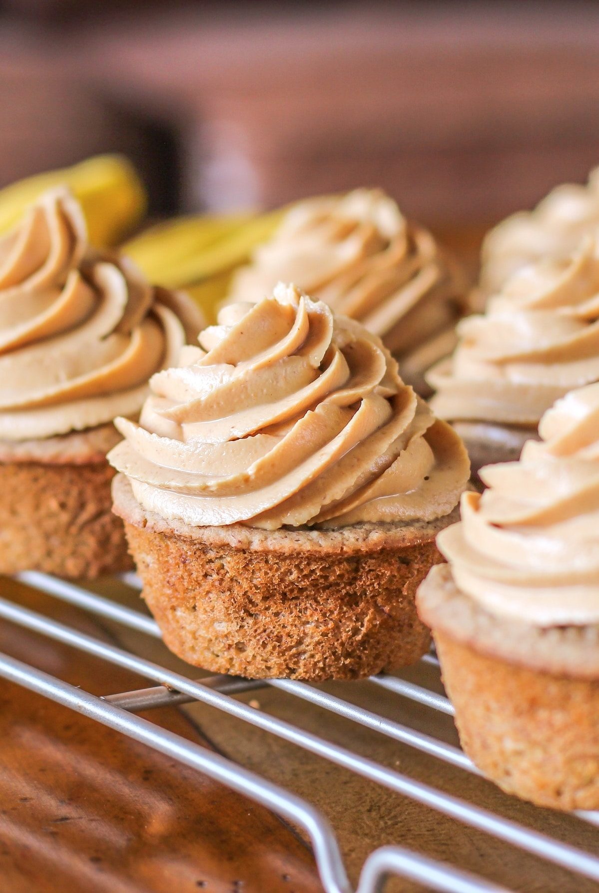 20 Healthy Desserts You Can Eat For Breakfast: 14) Healthy Banana Cupcakes with Peanut Butter Frosting recipe (refined sugar free, high protein, high fiber, gluten free, dairy free, vegan) - Healthy Dessert Recipes at Desserts with Benefits