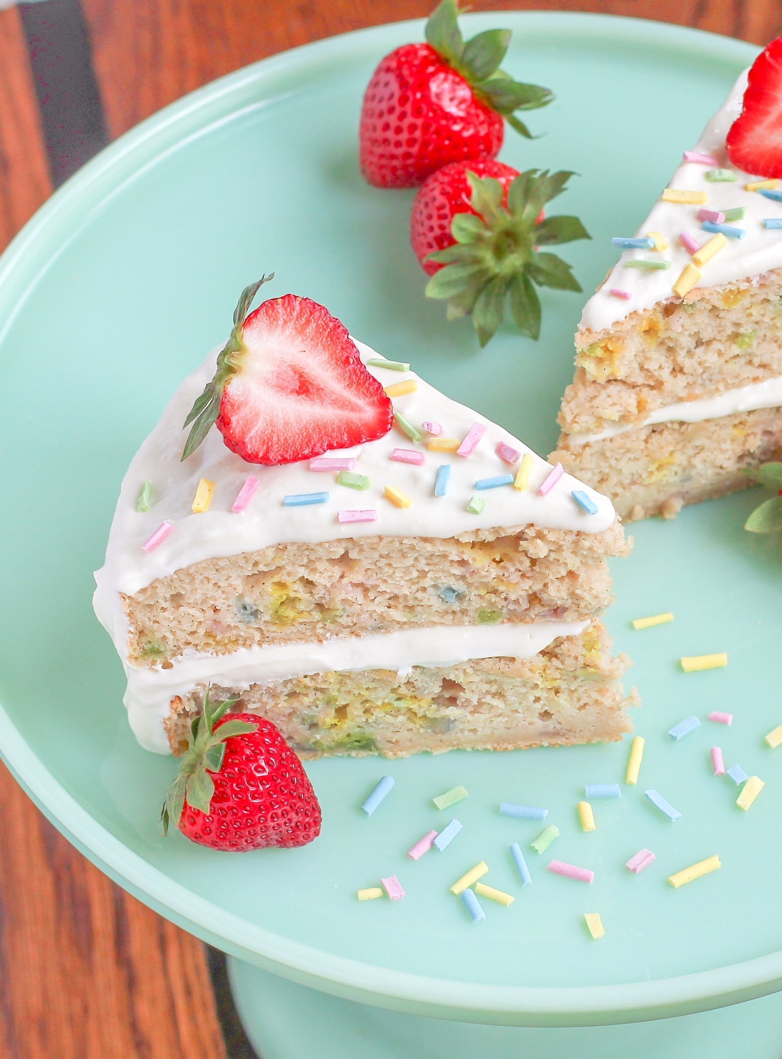 "The BEST Gluten Free Funfetti Cake (what I call, ""Funfairy Cake"") - Desserts With Benefits"