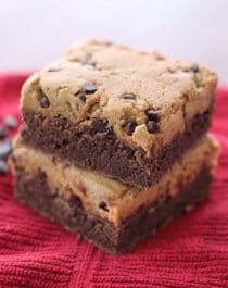 Healthy Cookie Dough Brownies (gluten free, dairy free, vegan)