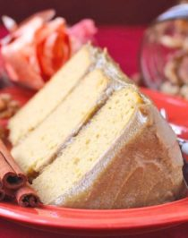 Healthy Pumpkin Cake with Butterscotch Protein Frosting