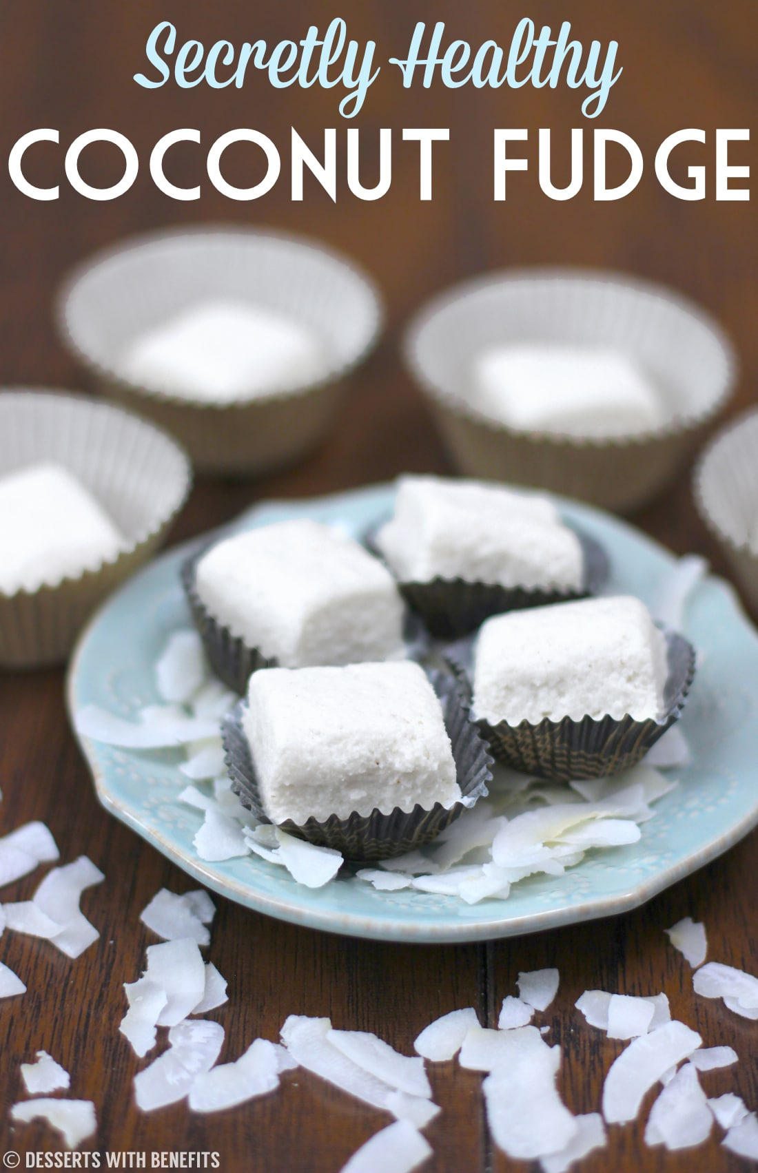 Healthy Coconut Fudge (sugar free, low fat, high protein, gluten free) - Healthy Dessert Recipes at Desserts with Benefits