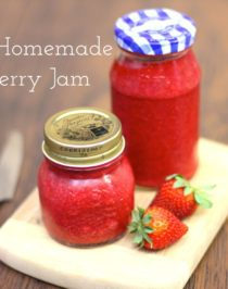 Healthy Homemade Strawberry Jam (all natural, sugar free, fat free, low calorie, gluten free, vegan) nutrition label - Healthy Dessert Recipes at Desserts with Benefits