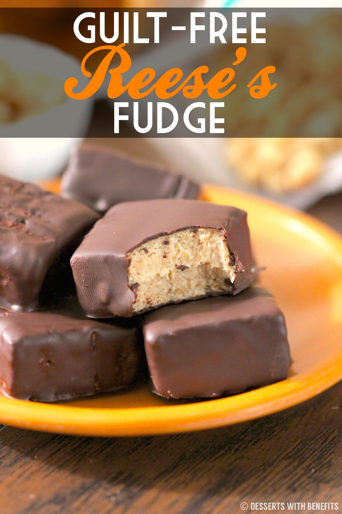 This Healthy Reese's Fudge is packed with peanut butter and chocolate flavor, you'd never know it's low sugar, low fat, high protein, and gluten free!