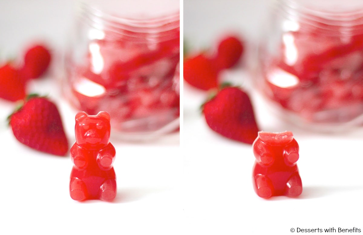 Healthy Homemade Strawberry Gummy Bears