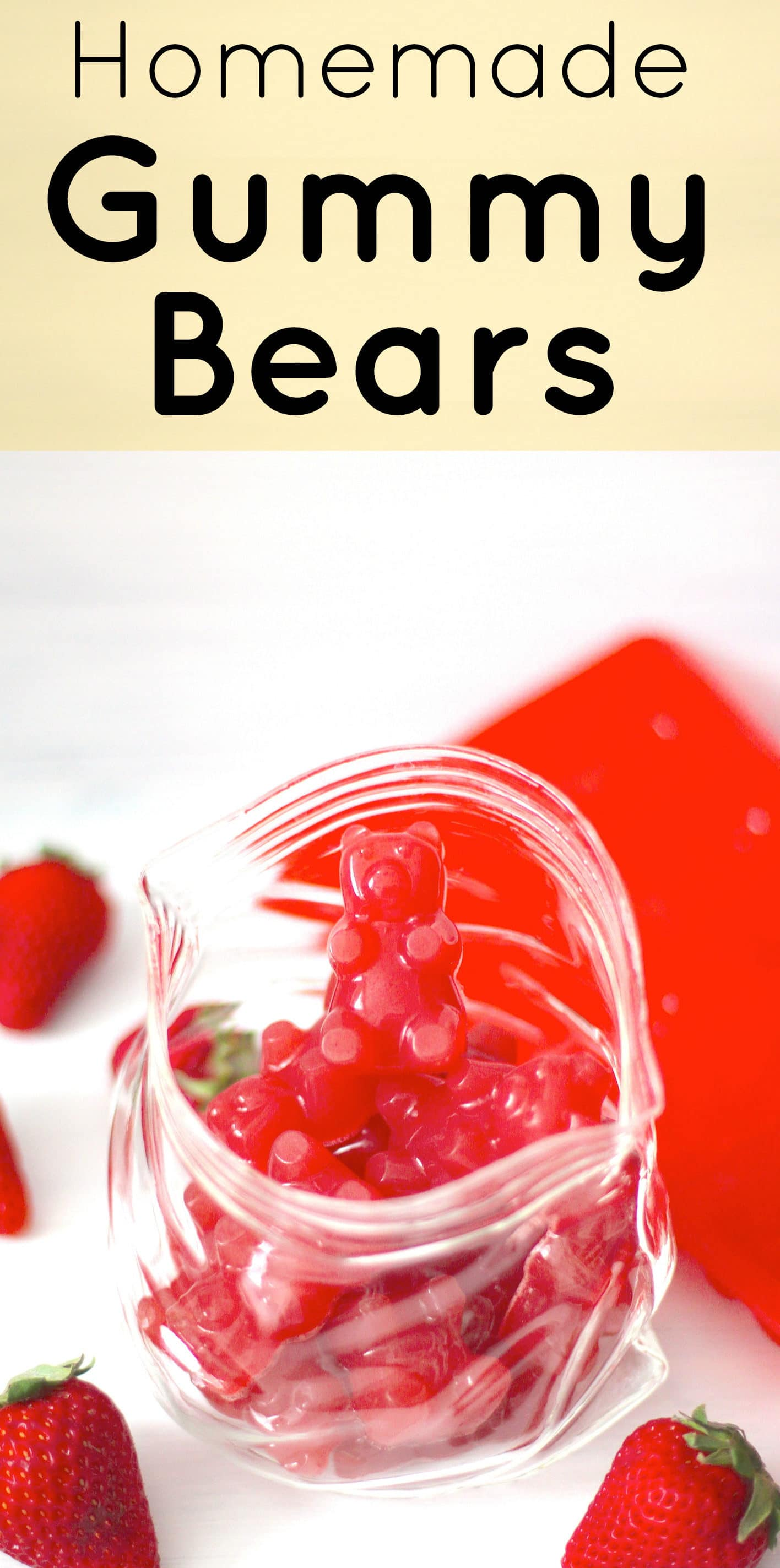 These Healthy Homemade Gummy Bears are super chewy, sweet and addictive, just like the storebought stuff! These naturally fruity Gummy Bears are fat free, refined sugar free, and low carb... no corn syrup or artificial flavorings whatsoever! But don't worry, you'd never know these are actually good for you!