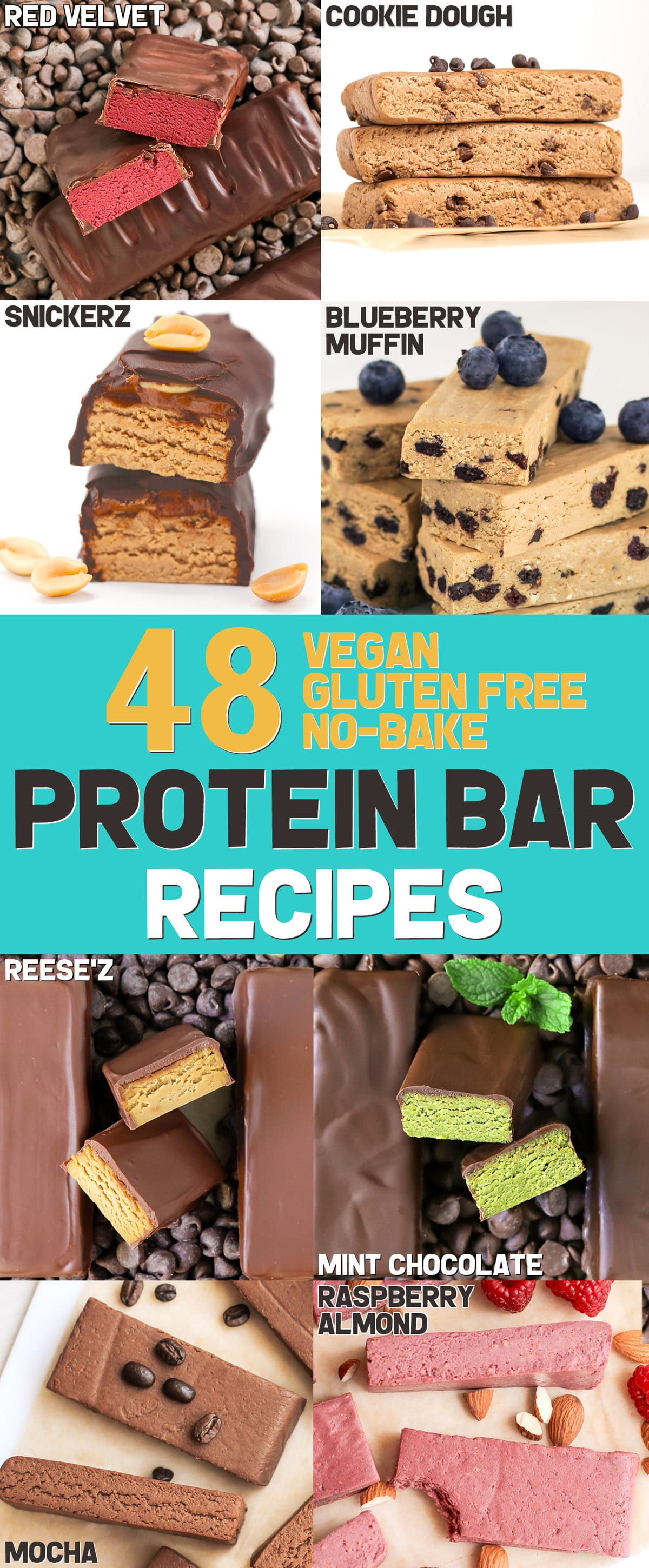 Tired of shelling out cash for protein bars at the store? Make 'em at home with The DIY Protein Bars Cookbook -- a collection of 48 healthy no-bake protein bars recipes to satisfy your sweet tooth! The recipes are gluten-free, dairy-free, soy-free, vegan, and all-natural too!