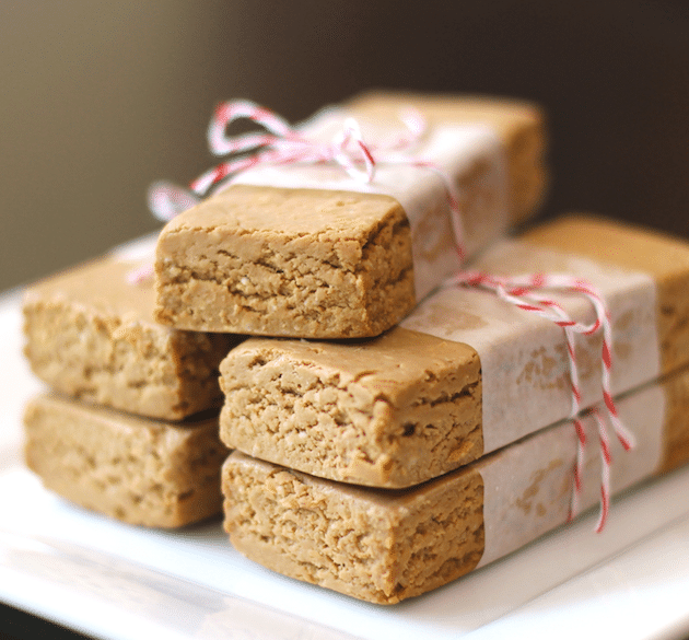 Healthy Peanut Butter Fudge DIY Protein Bars from the DIY Protein Bars Cookbook – Jessica Stier of Desserts with Benefits