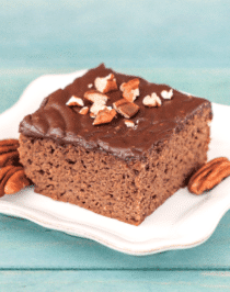 Healthy Texas Sheet Cake (refined sugar free, gluten free, high protein) - Healthy Dessert Recipes at Desserts with Benefits
