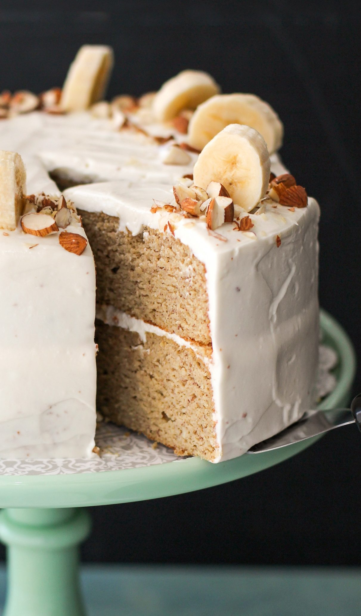 Gluten Free Healthy Banana Cake With Cream Cheese Frosting Recipe