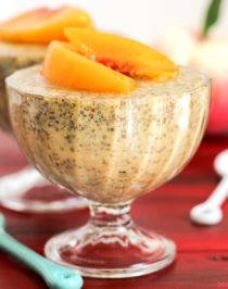 Healthy Ginger Peach Chia Seed Pudding (refined sugar free, low fat, low calorie, high fiber, gluten free, dairy free, vegan) - Healthy Dessert Recipes at Desserts with Benefits