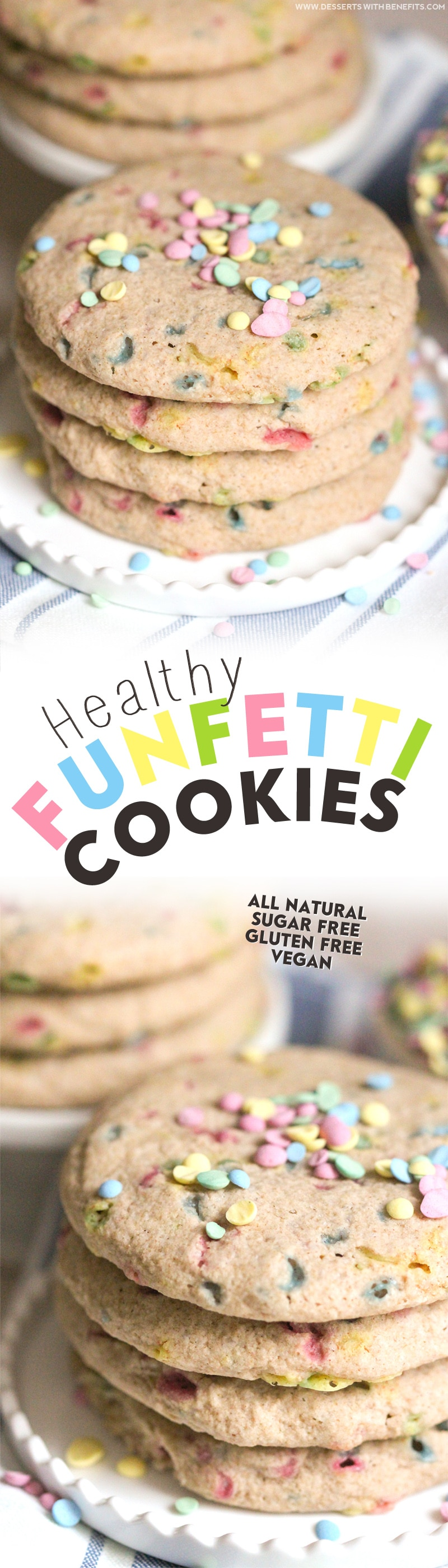 Healthy Funfetti Sugar Cookies recipe (all natural, sugar free, gluten free, dairy free, vegan) - Healthy Dessert Recipes at Desserts with Benefits