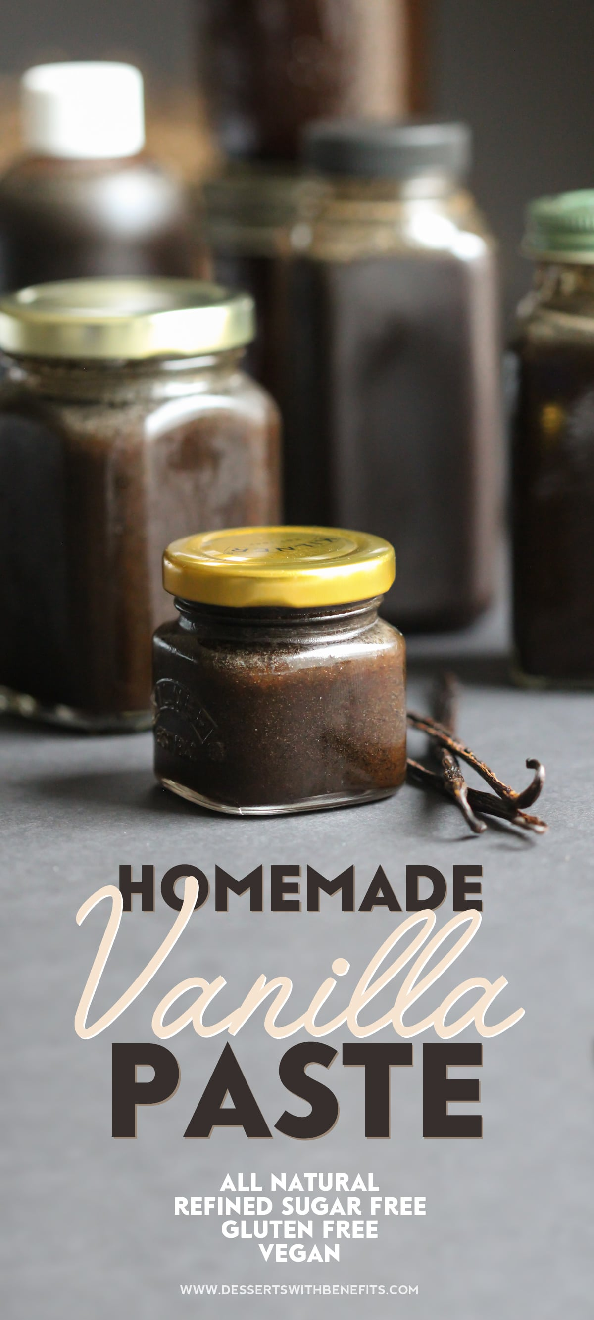 3-ingredient homemade vanilla bean paste (refined sugar free, fat free, low carb, gluten free, vegan)