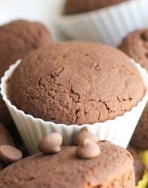 These Healthy Bittersweet Chocolate Quinoa Muffins are super light and fluffy, like cupcakes, but hearty and filling, like muffins. Not overly sweet or heavy, so they're the perfect thing for breakfast first thing in the morning along with a cup of coffee. It's hard to believe these muffins are low calorie, low fat, sugar free, gluten free, AND vegan! -- Healthy Dessert Recipes with sugar free, low calorie, low fat, high protein, gluten free, dairy free and vegan options at the Desserts With Benefits Blog (www.DessertsWithBenefits.com)