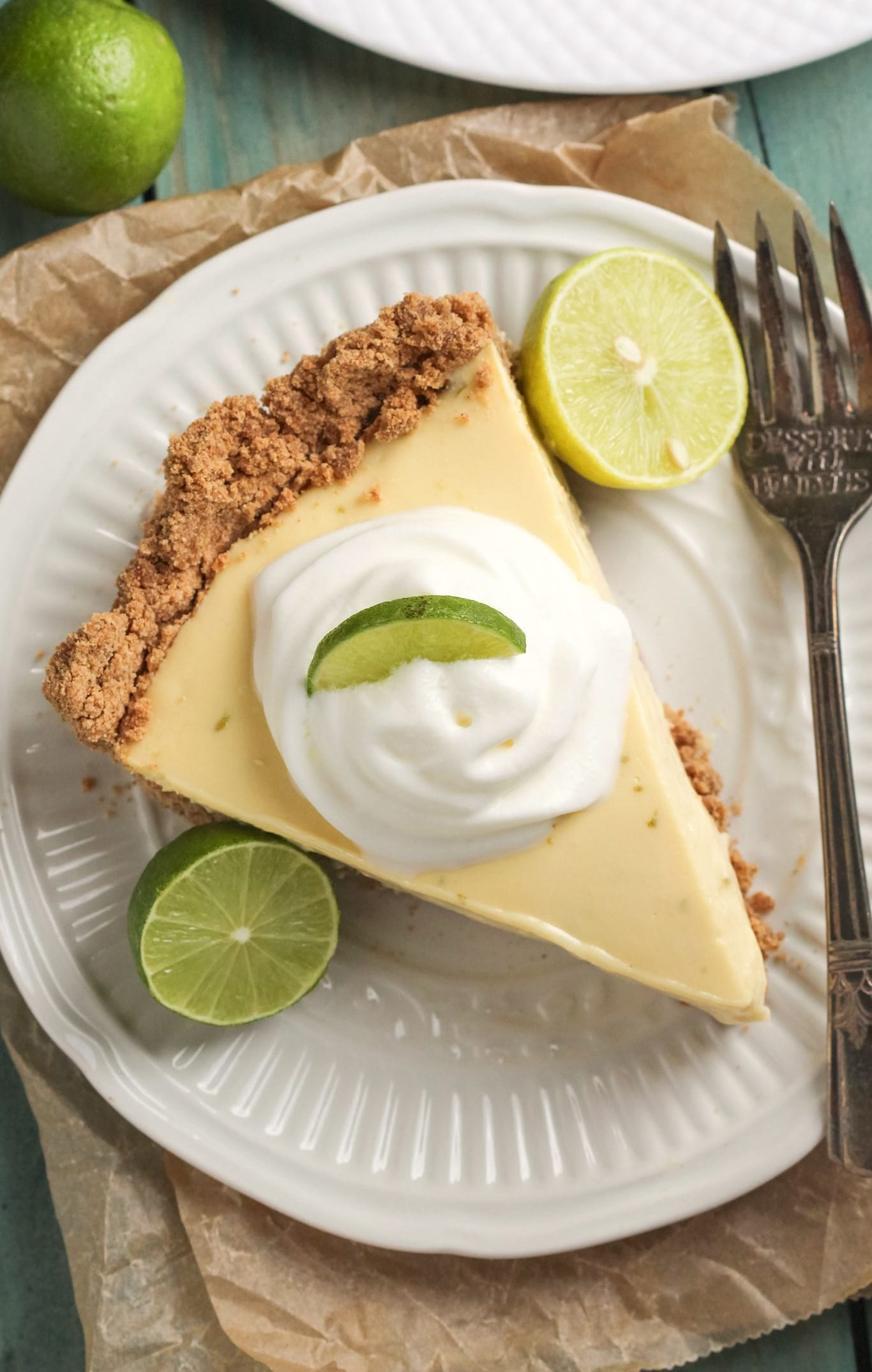 Healthy Key Lime Pie (low sugar, high protein, gluten free)