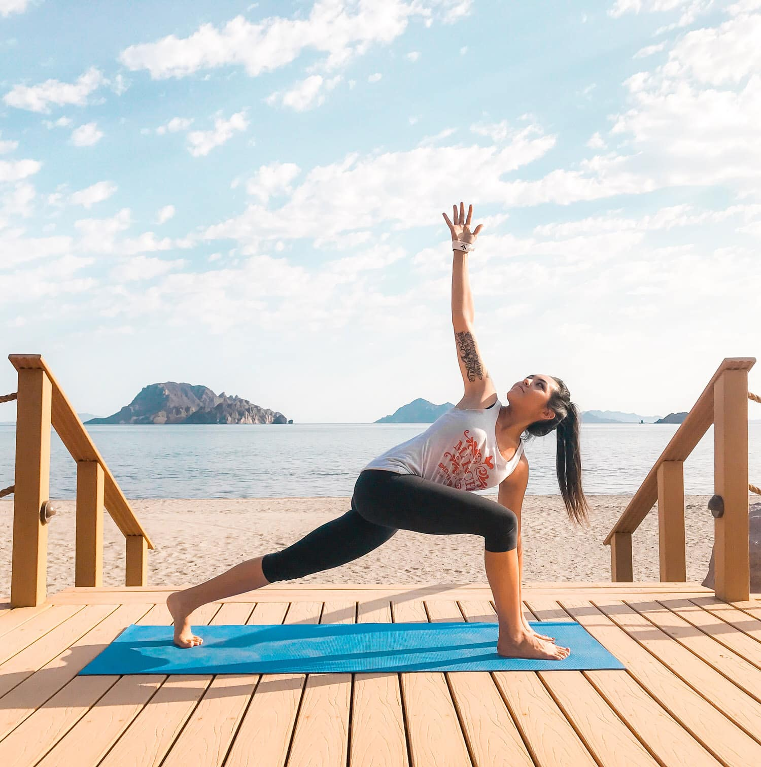 Yoga at Villa del Palmar at the Islands of Loreto. Looking for the BEST vacation destination to treat yourself? From a quiet getaway to soak up the sun or to enjoy your honeymoon, the Villa del Palmar at the Islands of Loreto, Mexico is one of those hidden gems you need to visit for yourself. This unique, affordable resort is packed with fun activities such as golfing, kayaking, paddle boarding, snorkeling, scuba diving, yoga, dancing, whale watching, and fishing. Whatever you're looking for in your upcoming getaway, Villa del Palmar offers it!