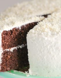 This Healthy Chocolate Coconut Cake is super fluffy, supremely chocolatey, and speckled with shredded coconut throughout. It seriously doesn't taste like it's low in sugar, high in protein, or gluten free whatsoever! Healthy Dessert Recipes with sugar free, low calorie, low fat, low carb, high protein, gluten free, dairy free, vegan, and raw options at the Desserts With Benefits Blog (www.DessertsWithBenefits.com)