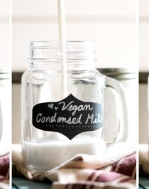 (How to Make DIY Condensed Milk) This super easy 3-ingredient Healthy Homemade Vegan Sweetened Condensed Milk is sweet, thick, rich and creamy, yet sugar free and low carb! Healthy Dessert Recipes with sugar free, low calorie, low fat, low carb, high protein, gluten free, dairy free, vegan, and raw options at the Desserts With Benefits Blog (www.DessertsWithBenefits.com)
