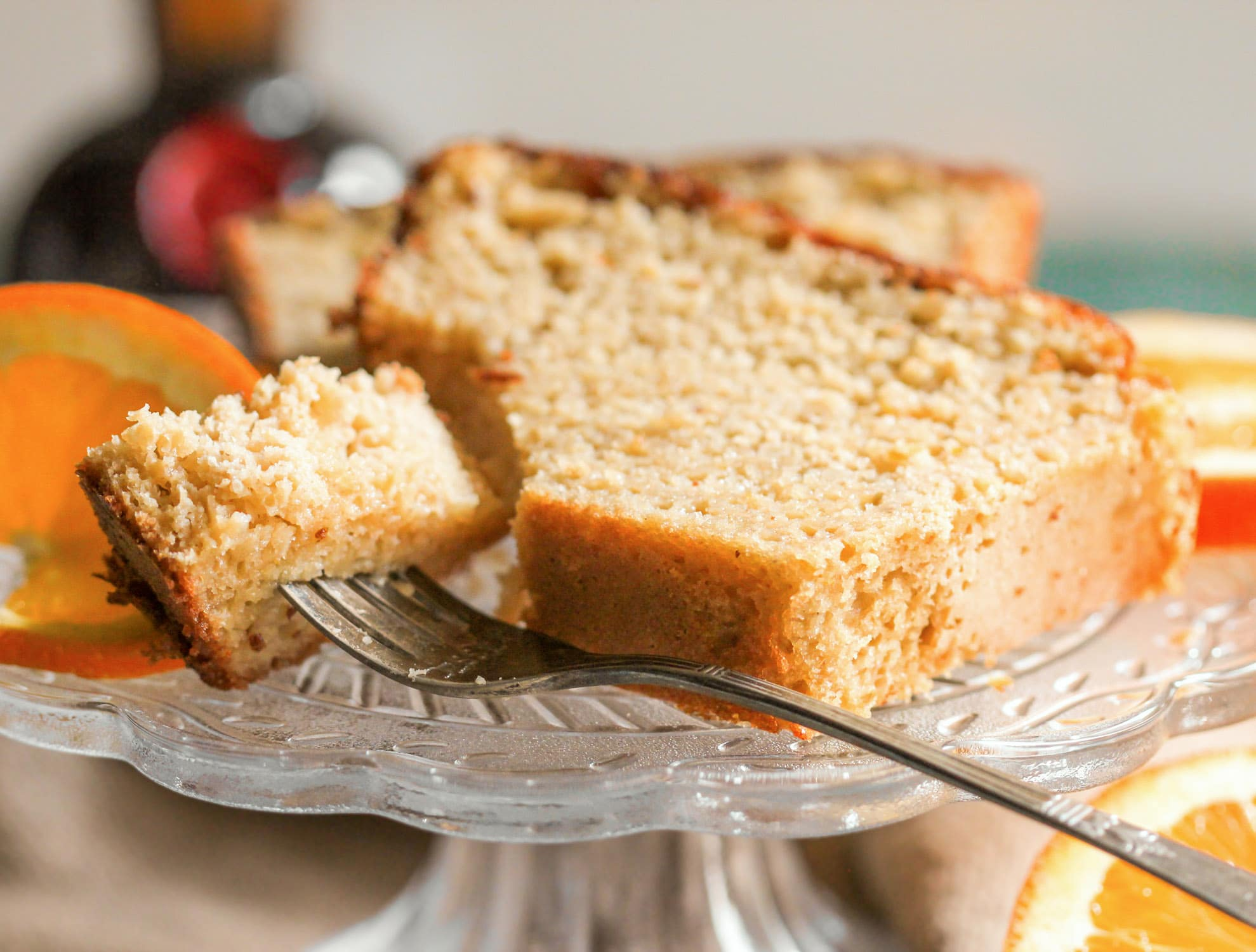 This Healthy BOOZY Orange Pound Cake is sweet, buttery, and full of refreshing orange flavor. You'd never know it's low sugar, high protein, and whole grain, and you'd DEFINITELY never guess that it's made without butter! Healthy Dessert Recipes with sugar free, low calorie, low fat, low carb, high protein, gluten free, dairy free, vegan, and raw options at the Desserts With Benefits Blog (www.DessertsWithBenefits.com)