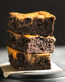 Healthy Pumpkin Swirl Brownies