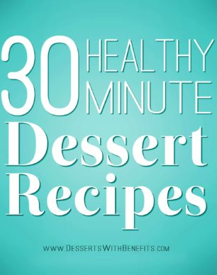 30 healthy dessert recipes that you can make in 30 minutes OR LESS! From cookies to krispy treats to fudge to mousse to dips, even ice cream! And they're all good for you too, with options for everyone -- whether you're sugar free, gluten free, dairy free, vegan, or prefer low calorie, low fat, low carb, or high protein treats. Hundreds of healthy dessert recipes can be found at the Desserts With Benefits Blog (www.DessertsWithBenefits.com)