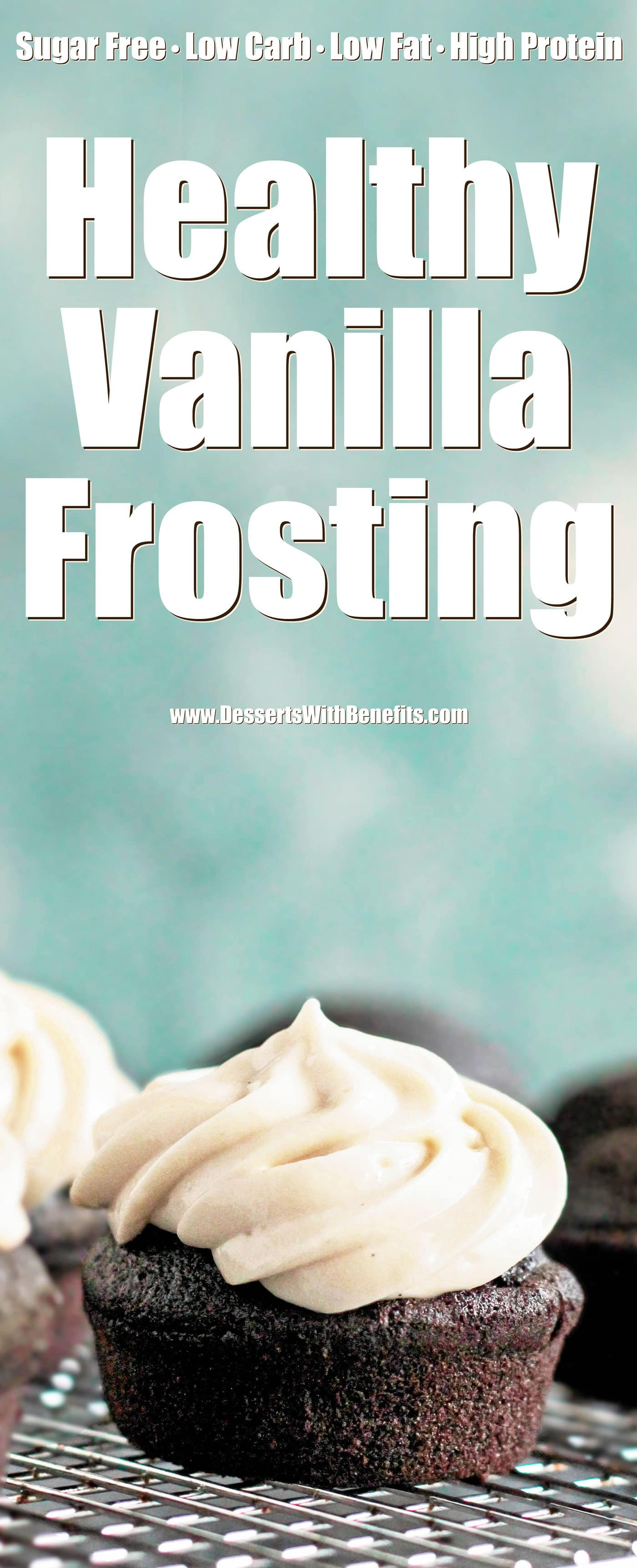 These Vanilla Protein Icing and Vanilla Protein Frosting recipes are perfect for EVERYTHING. They're sweet, simple, and delicious, but without the white sugar, butter, hydrogenated shortening (dangerous trans fats), and artificial flavorings. Just as good as the original, but made actually good for you! It's hard to believe these are sugar free, low carb, low fat, high protein, and gluten free!