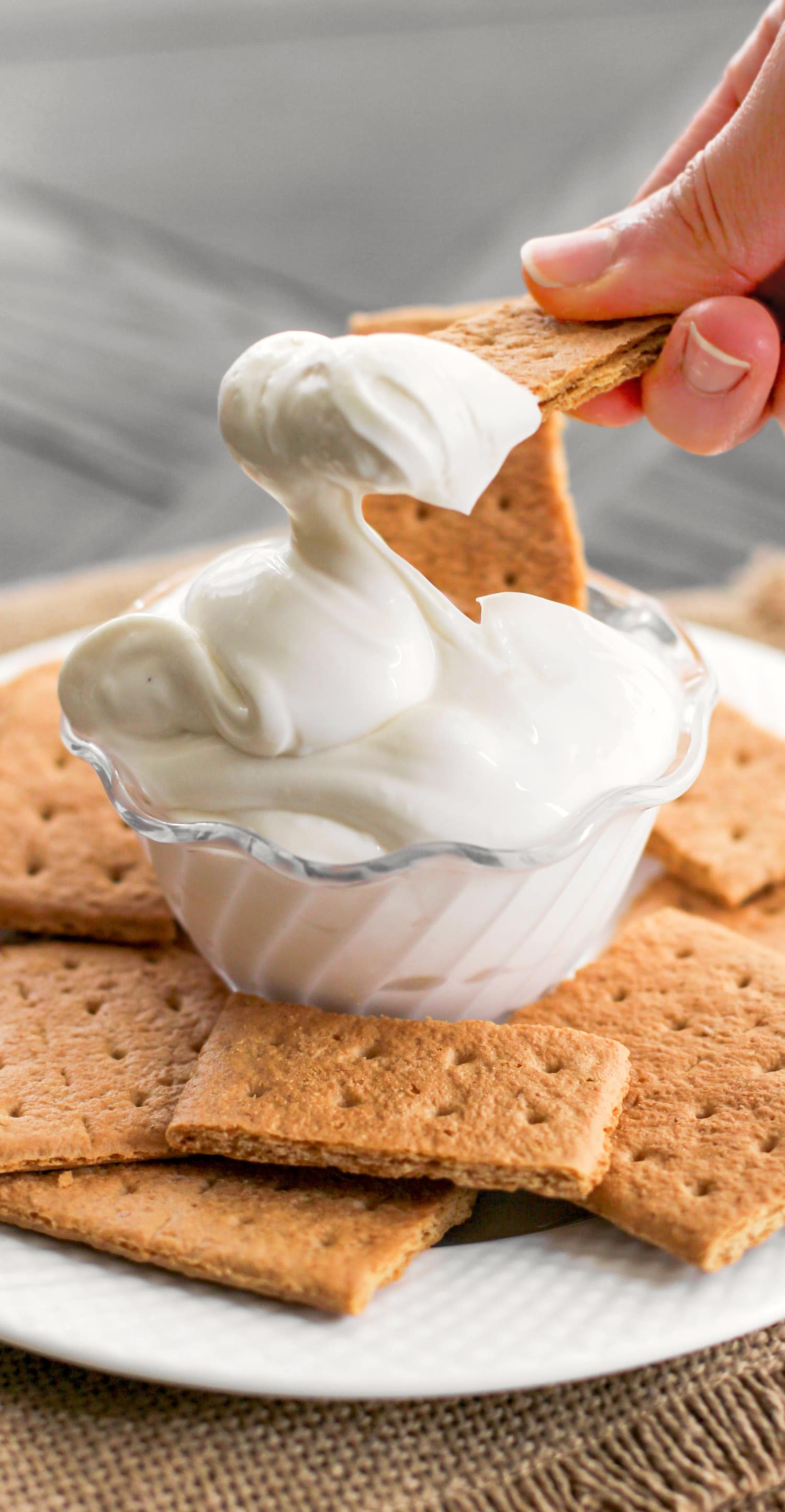 This 90-calorie Cheesecake Dip is ultra creamy, sweet, and satisfying. It tastes just like cheesecake batter, except it's sugar free, low fat, low carb, and high protein! All you need are 4 ingredients and a few minutes to make this secretly healthy, no-bake dessert dip!
