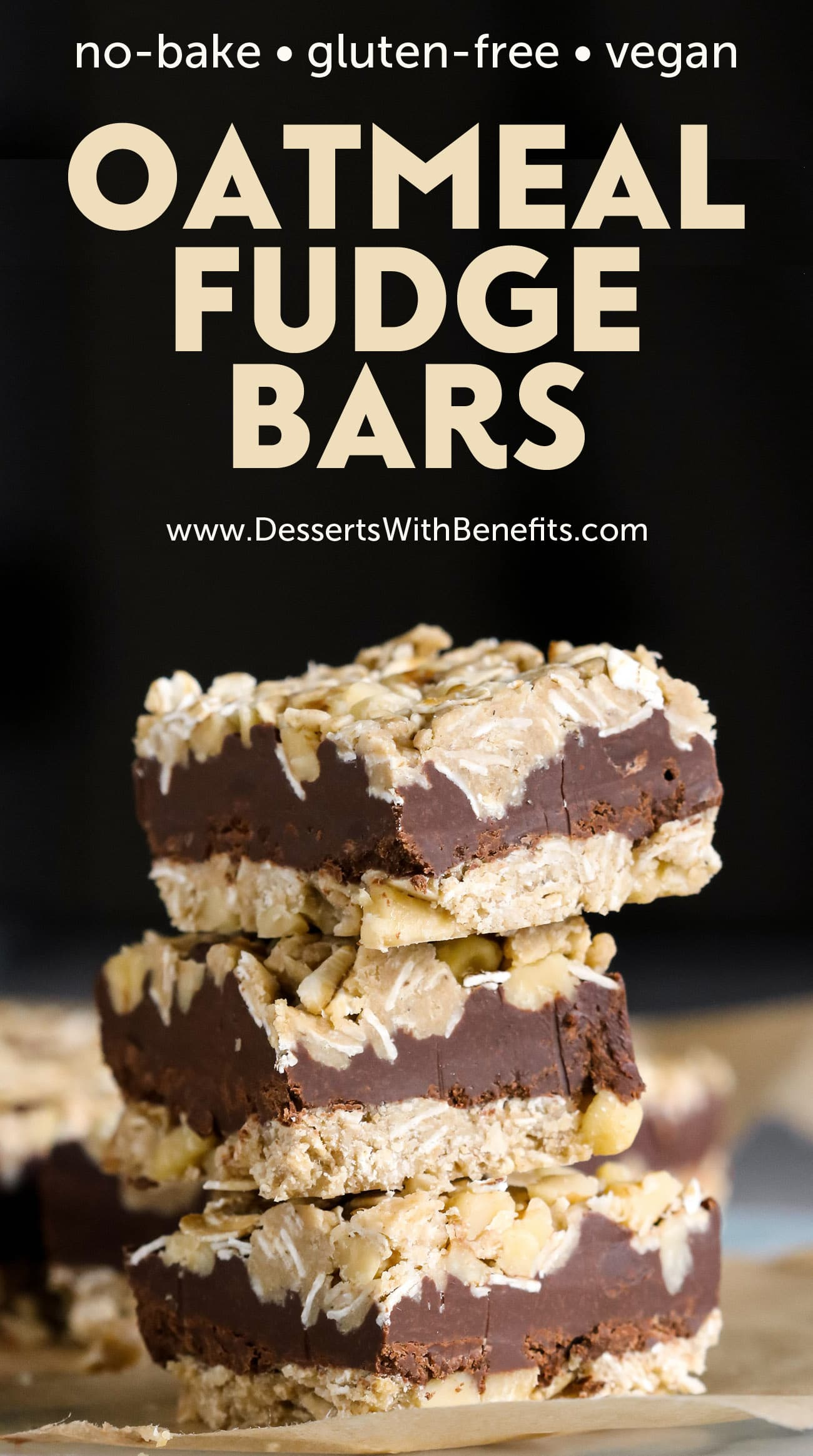 Healthy No-Bake Oatmeal Fudge Bars
