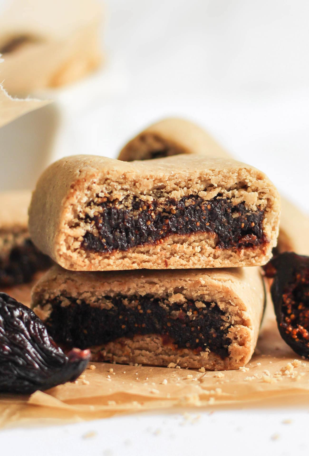 Easy DIY Fig Newtons (whole grain, gluten free, sugar free, dairy free, vegan)