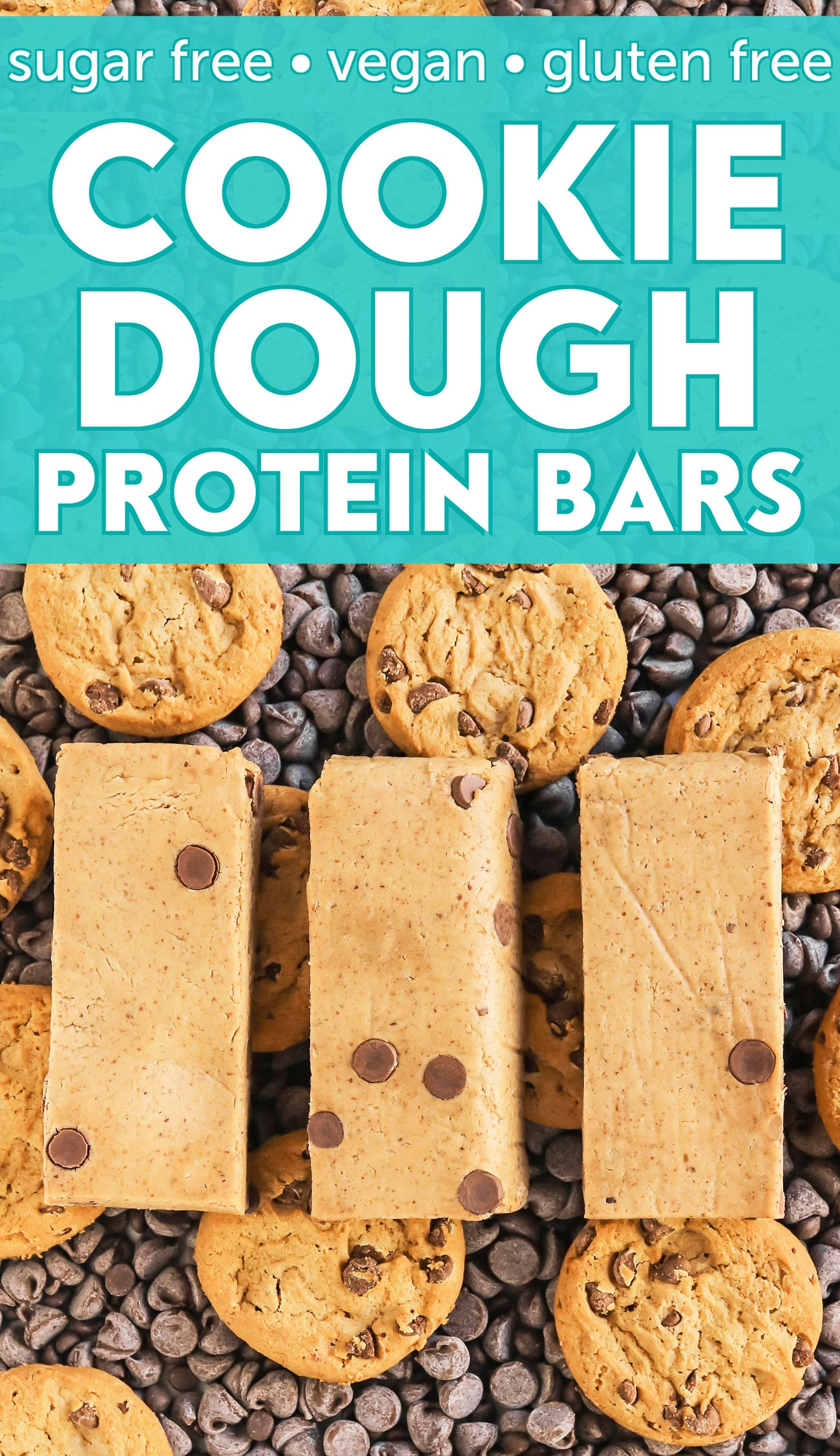 Tired of shelling out cash for protein bars at the store? Make these Cookie Dough Protein Bars instead, thanks to The DIY Protein Bars Cookbook -- 48 no-bake homemade protein bars recipes to satisfy your sweet tooth! With sugar free, gluten free, dairy free, and vegan options.