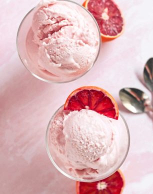 5-ingredient Blood Orange Ice Cream