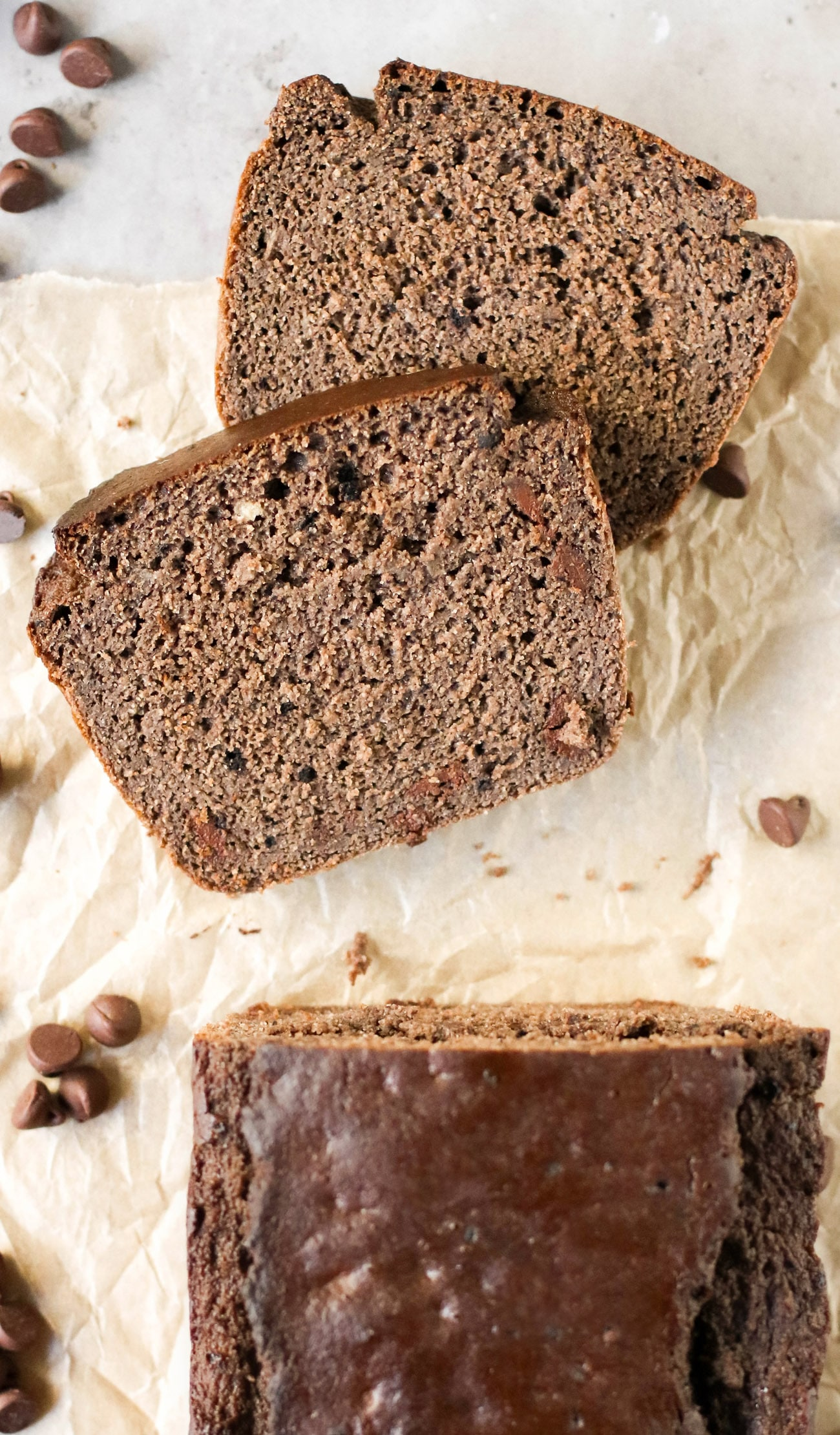 Double Chocolate Banana Bread (sugar free, high protein, high fiber, gluten free, dairy free)