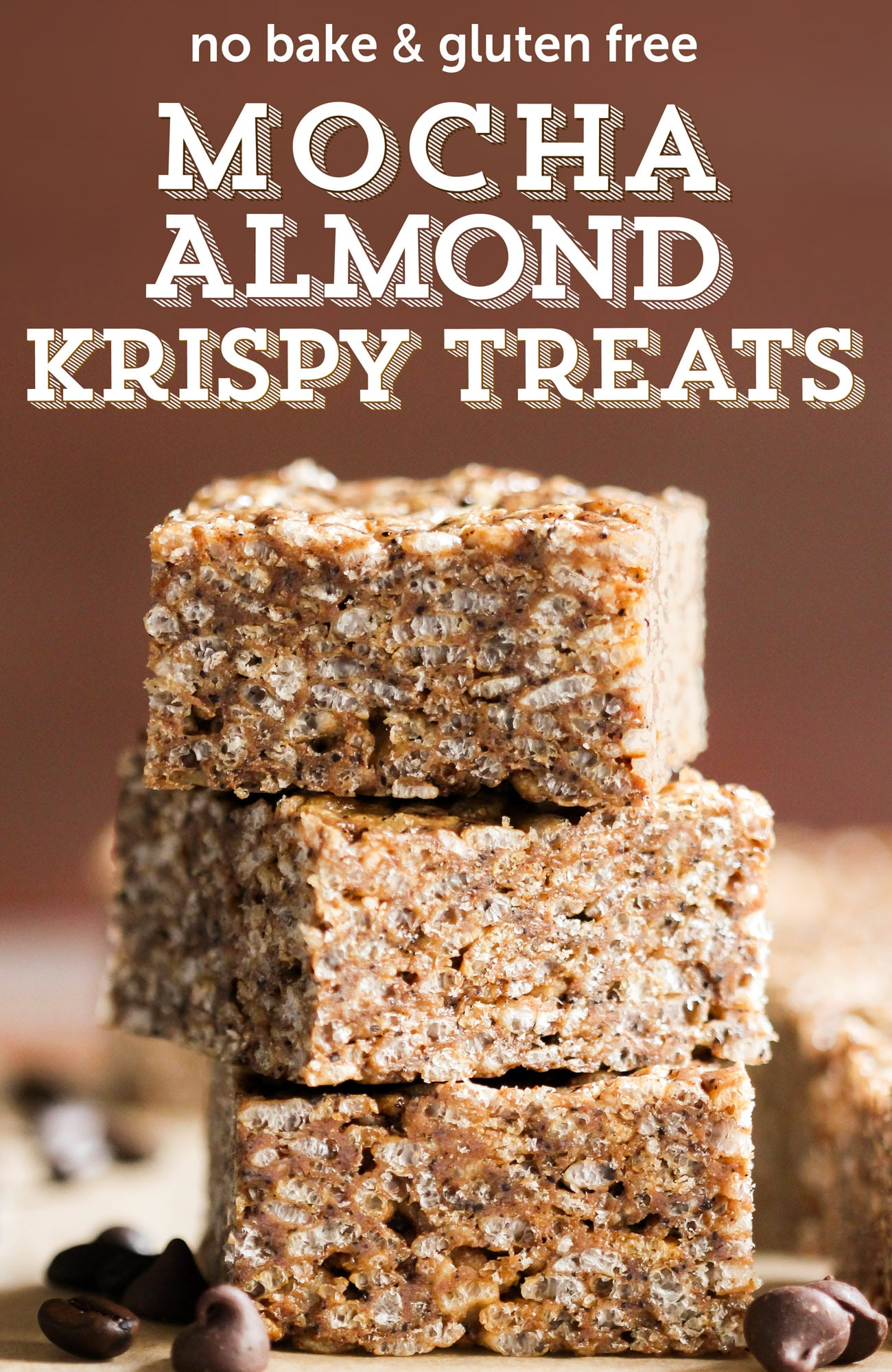 Healthy Mocha Almond Krispy Treats (gluten free, refined sugar free, high protein)