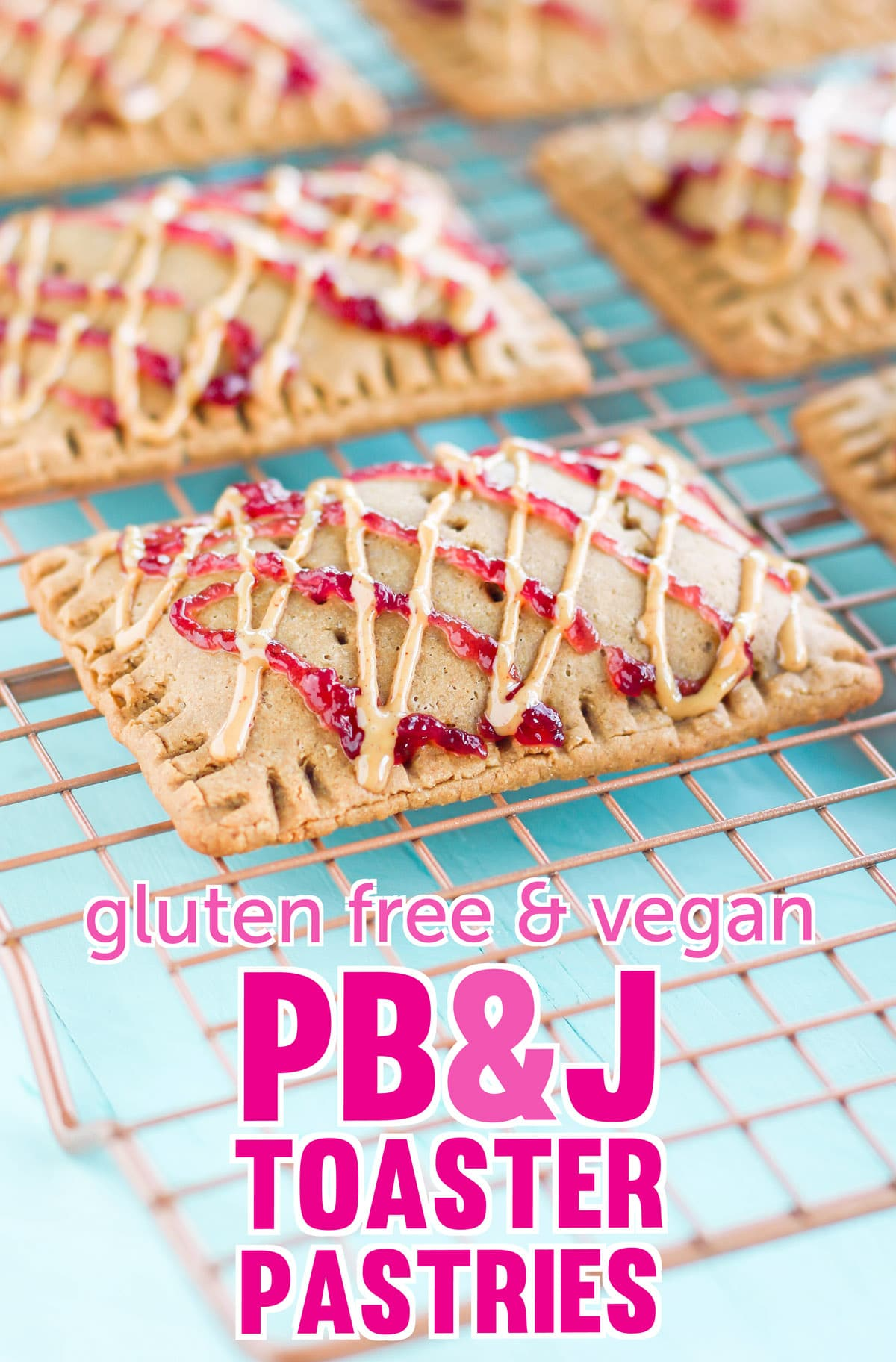 Homemade Peanut Butter and Jelly Toaster Pastries (gluten free, high protein, made with less sugar)
