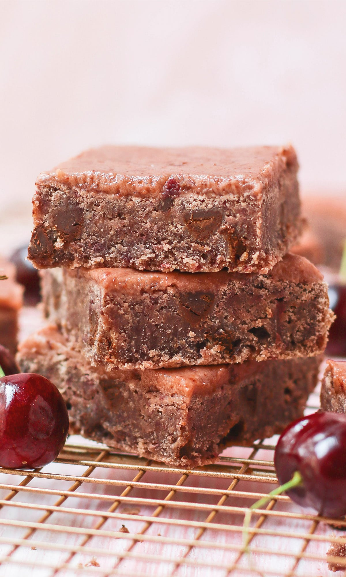 Healthy Cherry Chocolate Chip Blondies