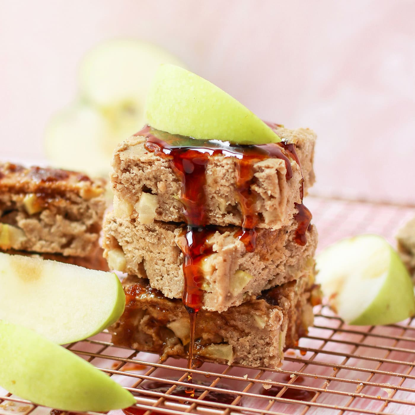 Gluten Free Vegan Apple Pie Blondies